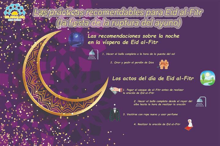 Eid al- Fitr y sus prácticas recomendables